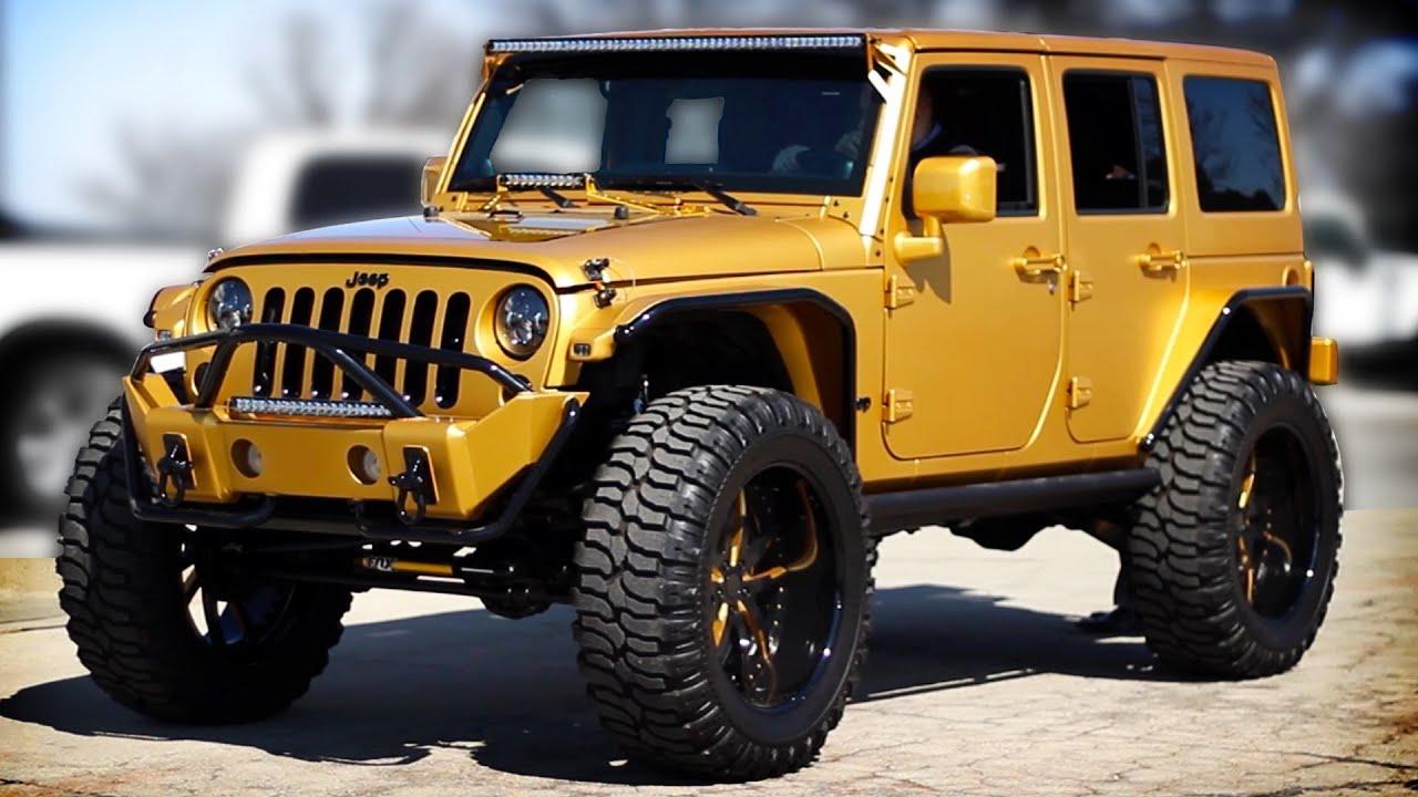 Custom Gold 2012 Jeep Wrangler Video Tour Unique