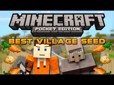 Biggest VILLAGE Ever Seed Minecraft Pocket Edition 0.9.0 Village Seed Huge Village