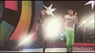 Agustin Bernasconi y Ruggero Pasquarelli bailando