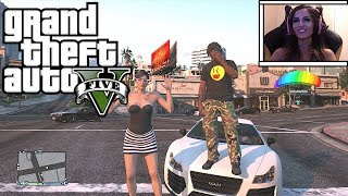 GTA 5 Online Funny Moments - 1v1 Xpertthief + Traffic Game