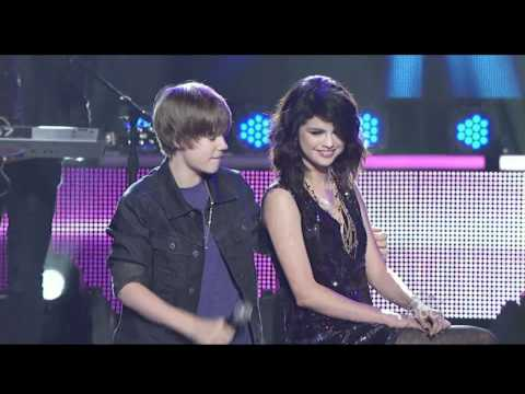 Justin Bieber  Singing To Selena Gomez On Stage - One Less Lonely...