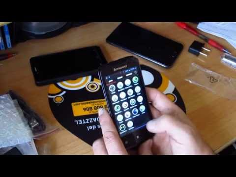 UNBOXING Lenovo A390  512Mb Ram 4Gb ROM by MINIDEAL