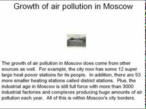 Air Pollution in Moscow
