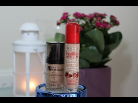 Kilka słów o Revlon Photo Ready oraz Bourjois Healthy Mix Serum Gel Foundation