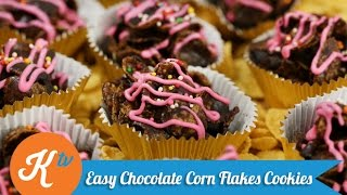 Resep Easy Chocolate Corn Flakes Cookies | YUDA BUSTARA
