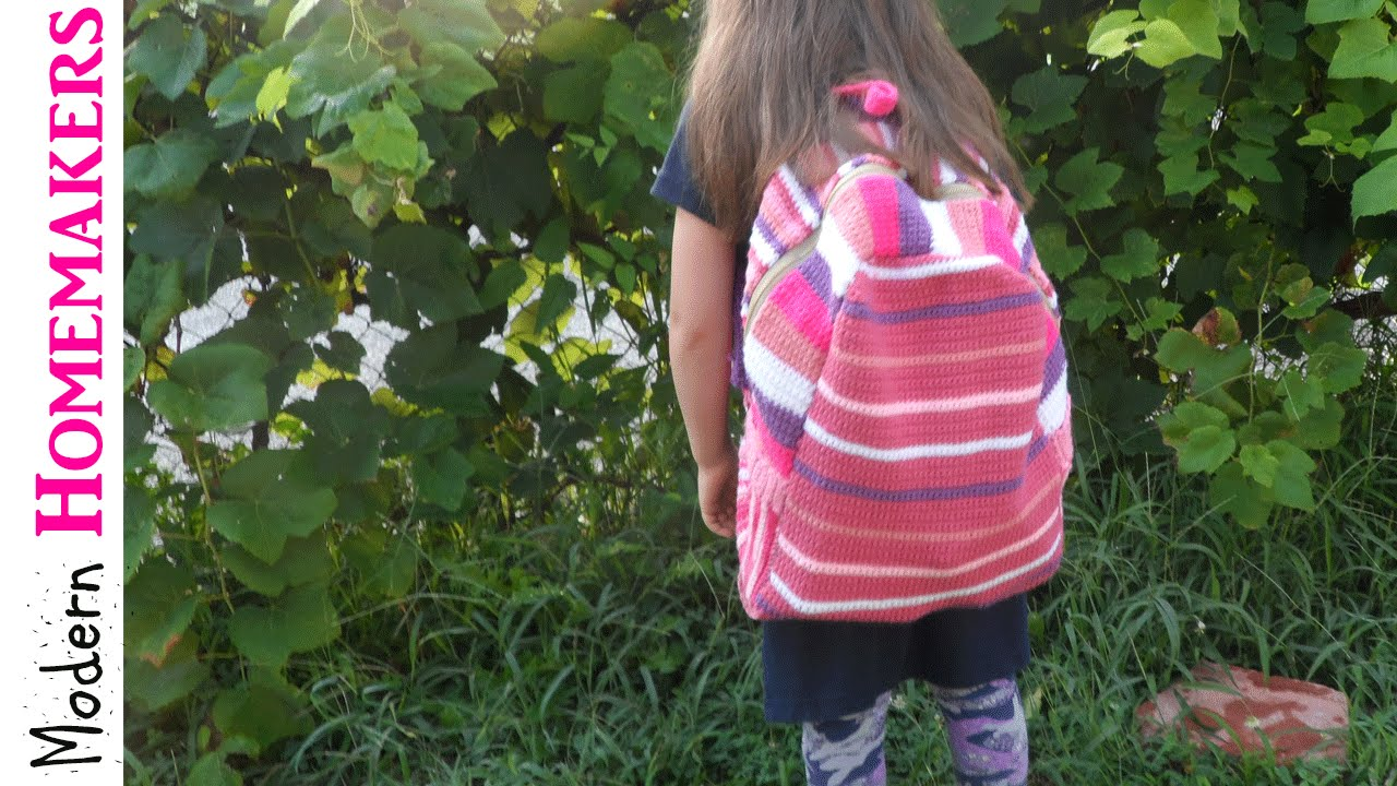 Crochet Backpack Pattern Part