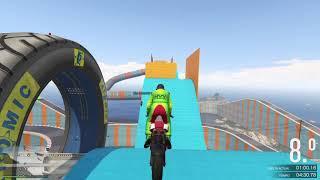 ME ENCANTA ESTA MOTO LA OLA CARRERA ACROBACIA Grand Theft Auto V PS4 GAMEPLAY 🔞💪☠