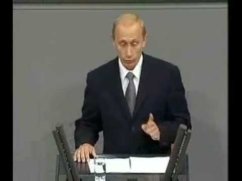 Putin spricht Deutsch / Putin speaks German 1/3