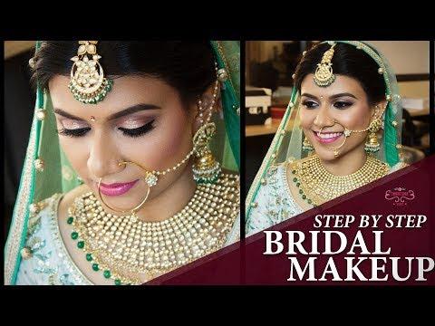 Beautiful Bridal Makeup Tutorial 2018 | Step By Step New Easy Makeup Videos | Chandni Singh Studio