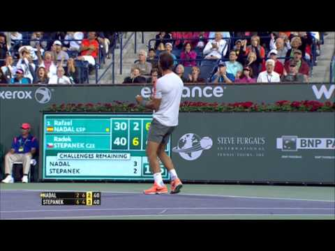 Rafael Nadal Hits Indian Wells Hot Shot Against Stepanek video