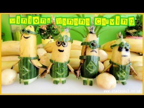 Art in Banana Show - Minions Banana -  Art of Vegetable and Fruit Carving Garnish