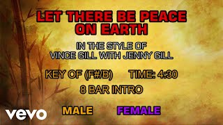 Vince Gill With Jenny Gill Let There Be Peace On Earth Karaoke