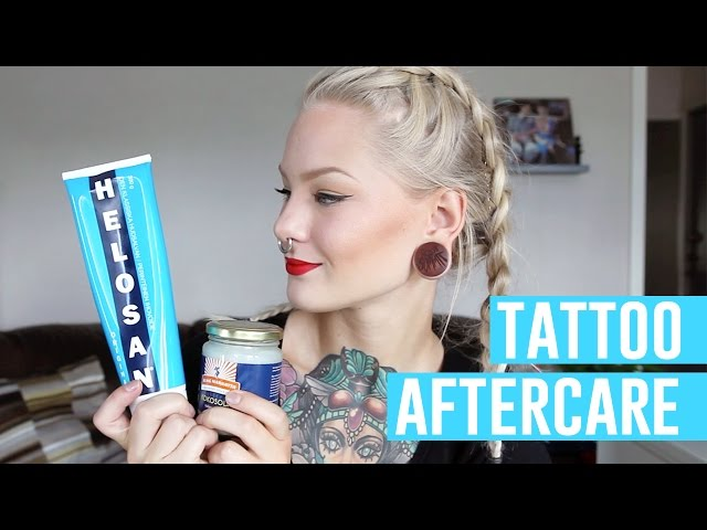 Tattoo healing aftercare katrin berndt for Tattoo aftercare bepanthen