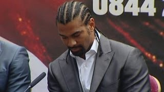 David Haye and Dereck Chisora square up again for heavyweight bout
