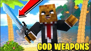 MONSTER ISLAND *EPIC GOD WEAPONS MOD* - Modded Minecraft Minigame | JeromeASF