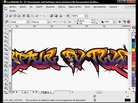 Graffiti en Corel Draw x3 parte 1 - Tutorial bueno