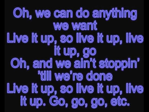 Jennifer Lopez - Live It Up ft. Pitbull  (lyric video)