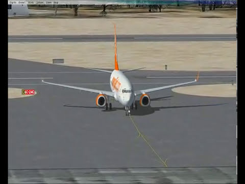 Microsft Flight Simulator X-EasyJet Landing At Palma Mallorca