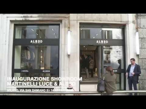 Martinelli Luce e Albed, uno showroom condiviso al centro di Milano