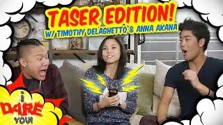 Je Te Défis: SE FAIRE ÉLECTROCUTER !(ft. Timothy Delaghetto & Anna Akana)