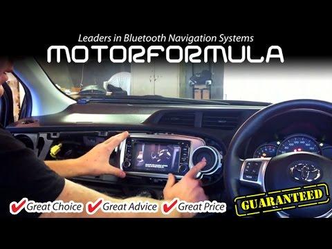 Car GPS DVD Player radio stereo head unit Toyota Yaris Installation guide