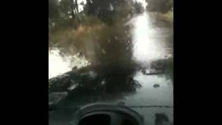 Jeep in floods 2011