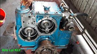 Lần đầu tiên xem anh thợ sửa Hộp số tàu biển M70 5 tua