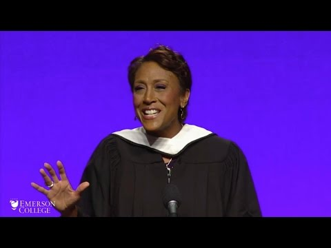 Robin Roberts Inspires Grads at Emerson's Commencement Ceremony