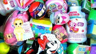 Mystery Surprise In A Bottle, Minnie Mash Mallows, Surprise Baby Born doll, Captain Marvel Mashems