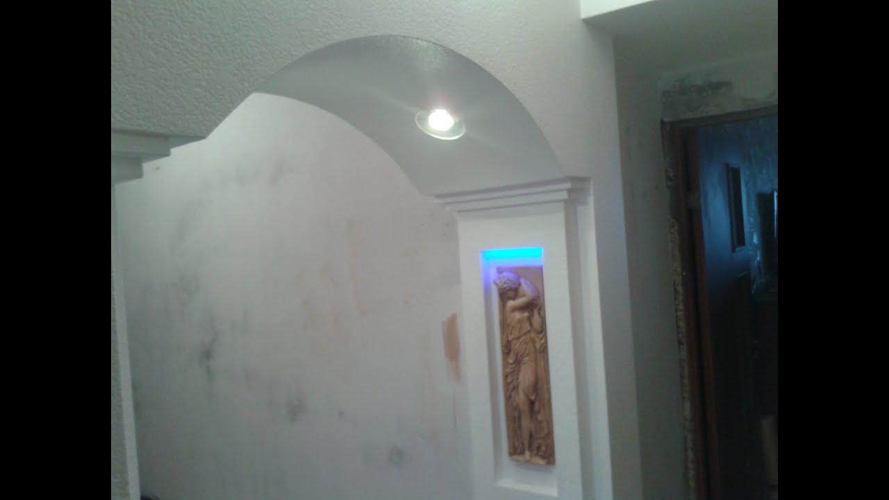 Как на стене сделать арку