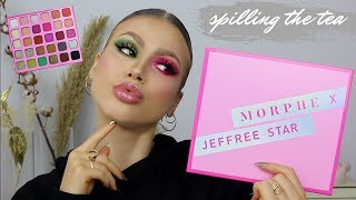 IS IT REALLY JEFFREE STAR APPROVED? | MORPHE X JEFFREE STAR PALETTE SWATCHES + REVIEW