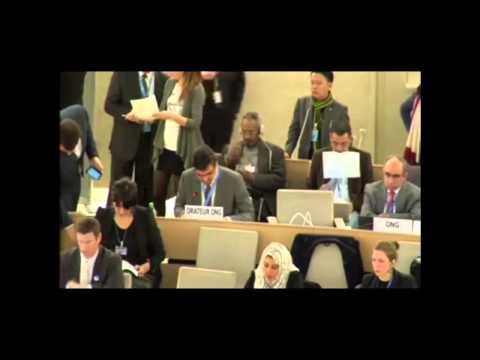 Ali Alaswad UN Human Rights Council 28 - 10-03-15