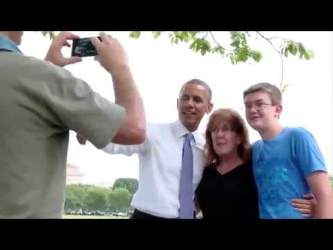 President Obama Takes a Walk, Surprises Tourists