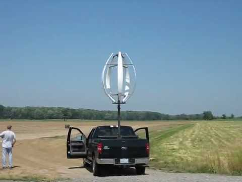 Field Test of Harvistor DARWIND5 vertical axis wind turbine