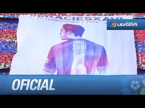 Último partido de Xavi en La Liga con el FC Barcelona