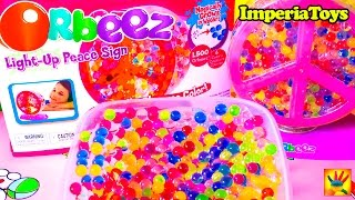 ORBEEZ Light-Up Peace Sign! Magically Grows in Water! ORBEEZ Playset Unboxing and Toy Review!