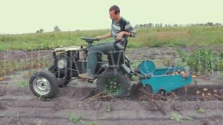 картофелекопалка как работает видео