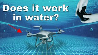 Can a Drone Fly in De-ionized Water? Experiment