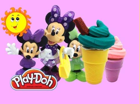 Пластилин Плей до набор «Лучшие друзья Минни» лепим мороженое Play doh set Minnie Sweet Friends