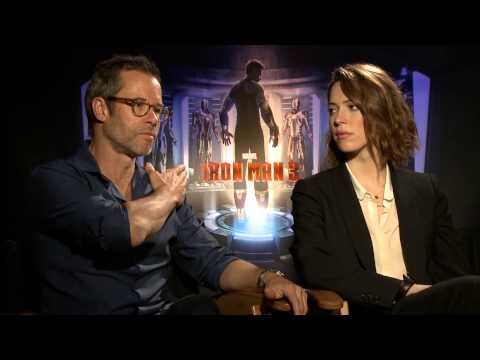 Guy Pearce & Rebecca Hall 'Iron Man 3' Interview