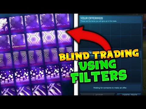 BLIND TRADING WHILE USING FILTERS! - Blind Trading With Fans! (Rocket League)