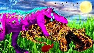 Á HISTÓRIA DO BEBÊ T-REX DE LARVA - O MEU PAPAI ME SALVOU DÁ MORTE! Ark Animals Evolved Dinossauros