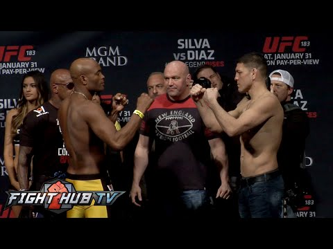 Anderson Silva vs. Nick Diaz full video- UFC 183 full weigh in + face off