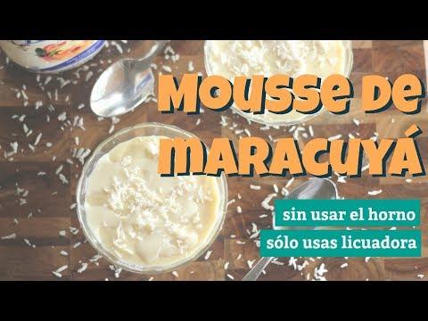 Mousse de maracuyá en licuadora y sin usar el horno  | Facilísimo y preparación rápida