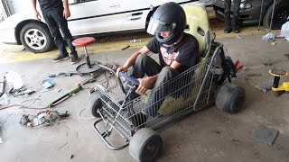 First Drive In The Shopping Go Kart Didn't Go Very Well