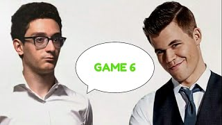 World Chess Championship - Game 6 | Magnus Carlsen vs Fabiano Caruana