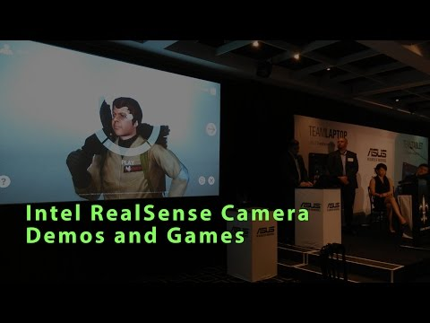 Intel RealSense 3D Camera Demos & Games - ASUS Chi T300 Launch
