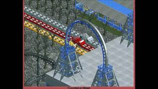My OpenRCT2 Park - Challenger | Speedsters (triple dueling reverse freefall coasters)