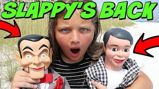 Slappy's BACK! We Bury Slappy & His Brother Danny at the Beach! Goosebumps in Real Life!