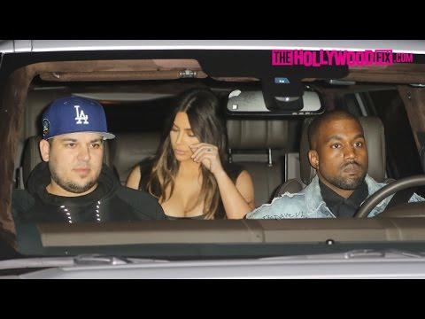 Rob Kardashian Celebrates His Birthday At Nobu With Kim, North, Kanye West, Kendall & More 3.19.16